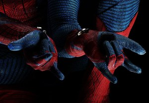 A fine example of static active stretching. Spidey's wrist extensors are flexing so that his forearm flexors stretch. Either that or he's doing a double 'hail satan'.