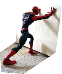 Spidey demonstrates an Isometric calf stretch. Thanks Spidey. Thidey.