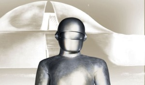 This is Gort. He can disintegrate stuff with his 'eye'. Fear him earthlings.