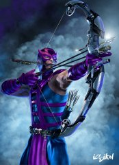 Hawkeye demonstrates the stance and by proxy those muscles used when performing it, that we will be focusing on.