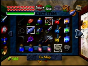 Link's inventory clearly demonstrates my well-informed point.