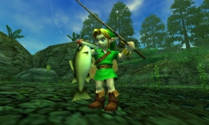 Even our intrepid hero takes a relaxing break from adventuring. Link knows the value of recovery.