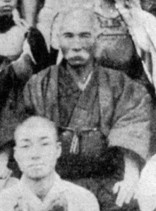 One of the few existing pictures of the geat Karate pioneer. Nice tache Sensei.