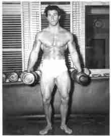 Legendary body-builder Reg Park ha the ideal Superhero physique.