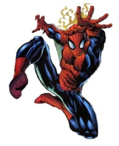 As you can see, the web-slinger's physique is sleek, yet with some emphasis on quadriceps and lats.