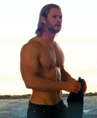 Chris Hemsworth, proves my well-informed point. Just look at those luscious pecs.