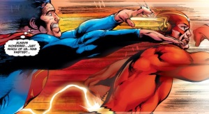 He actually is the fastest man alive, not even the all powerful Kal-El can catch him.