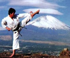 Sensei Kanazawa showing perfect form as always. And more nice scenery.