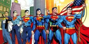 Superman has changed a little over the past 75 years, but looks very spritely for his advanced years.